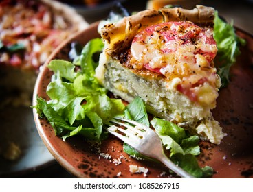 Mushroom quiche food photgraphy recipe idea