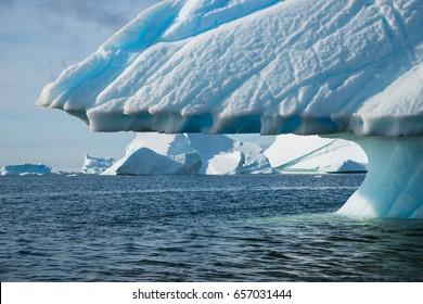 Mushroom shaped iceberg in Antarctica