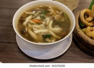Mushroom spicy soup