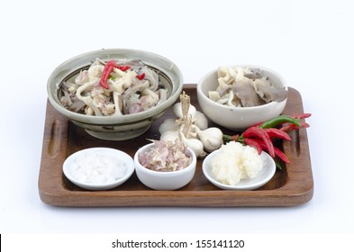 Mushrooms (Indian Oyster, Phoenix Mushroom or Lung Oyster)salad thai style