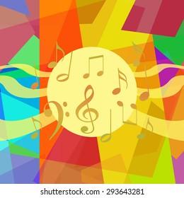 Music background, abstract art