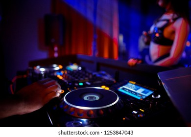Music Background DJ Night Club Deejay Record Player Retro