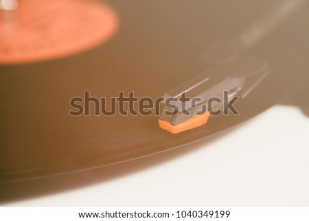 Music Background Hipster Turntable Device Listen Vinyl Stock Photo