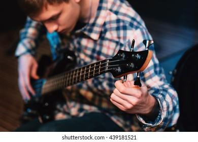 Music Bass Guitar Musician Hobby Leisure Lifestyle Talent Concept
