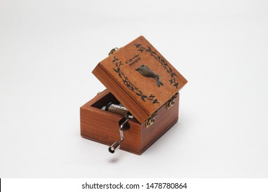 music box on a white background