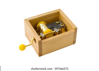Music box in wooden case