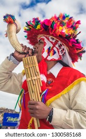 Music from the Candelaria festival. February 10, 2010, Puno - Peru