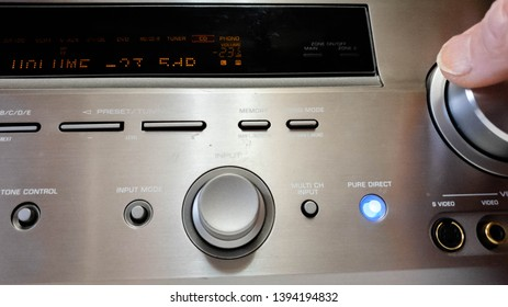 Music Center. Listening to music on amplifiers. Turn up the volume.