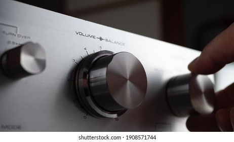 Music Center. Listening to music on amplifiers. Turn up the volume