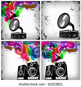 Music concept grunge background