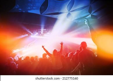 Music Concert. Instagram effect