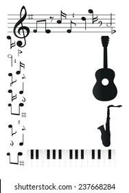 Music design frame photo