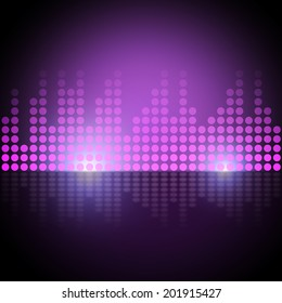 Music Equalizer Background Meaning Electronic Beats Display