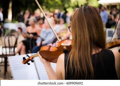 music at a Garden Wedding