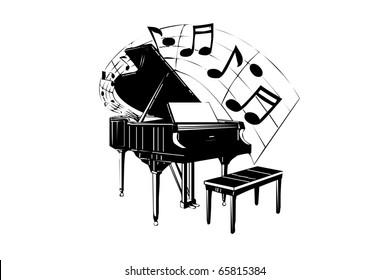 Music illustration black