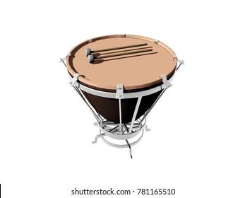 music instrument 3D rendering