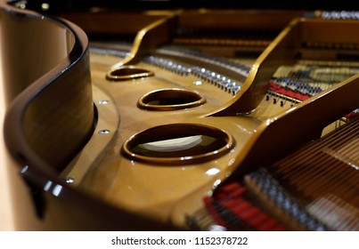 Music instrument Piano interior and his strings