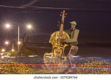 Music of iron musicians. Evening waltz Israel Ashkelon April 27, 2018