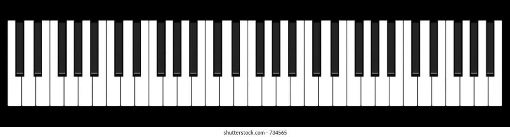 Music keyboard (top view)