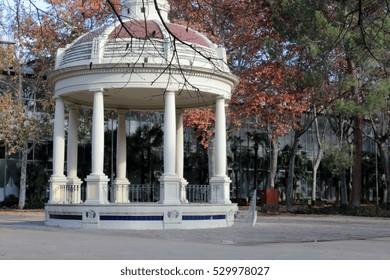 Music kiosk in the park