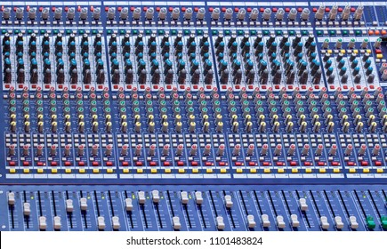 Music Mixer Desk with Various Knobs