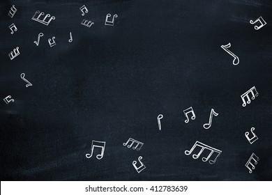 Music notes as a backdrop