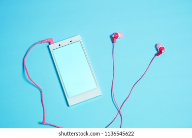 Music on smartphone.