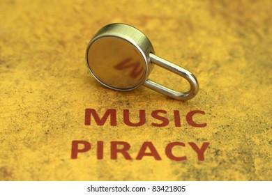 Music piracy concept