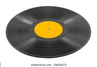 Music plate isolated on white background