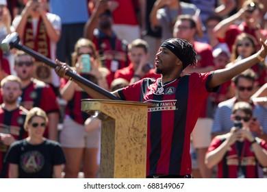 Music Producer Metro Boomin attended the MLS Atlanta United Hosted Orlando City on Saturday 29th, 2017 at the Georgia Tech campus Bobby Dodd Stadium in Atlanta, Georgia - USA