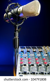 Music Production, Audio Mixer and Vocal Mic