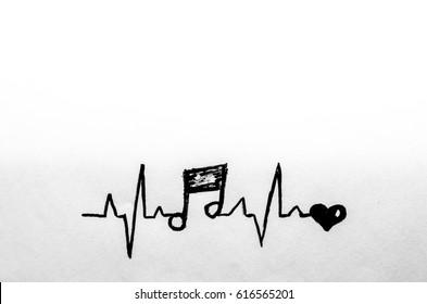 music, pulse, heart