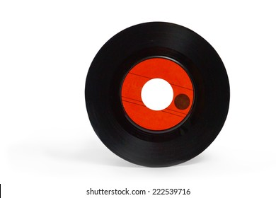 music record with red label