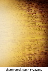Music sheet background for poster