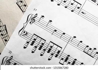 Music sheet, closeup