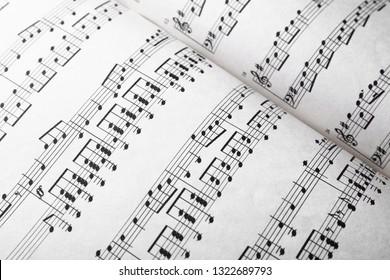 Music sheets, closeup
