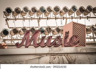 music sign - vintage effect filter