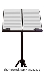 music stand with blank sheet