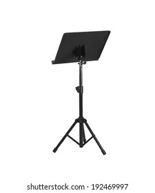 Music stand isolated on white