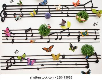 music wall pattern