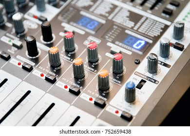 Musical amplifier Sound amplifier or Music mixer with Knobs, Jack holes and Mic connectors Image of Musical amplifier Sound amplifier or Music mixer with Knobs, Jack holes and Mic connectors