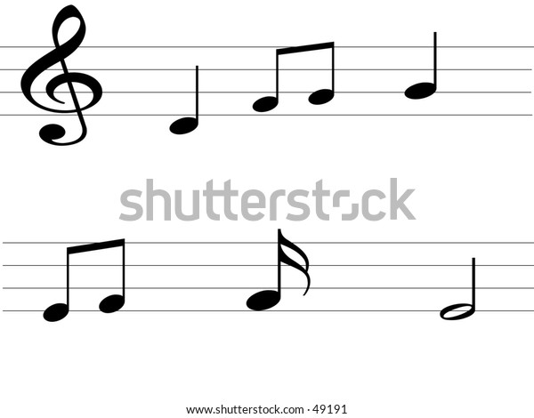 Musical background- Horizontal lines