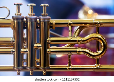 Musical brass instrument detail