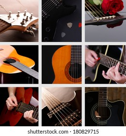 Musical collage. Guitar