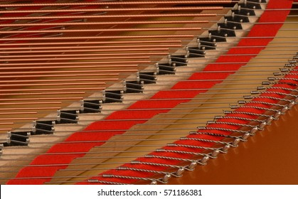 Musical instrument abstract: piano and piano strings