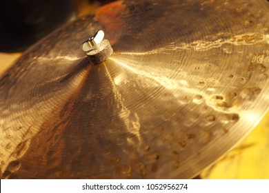 Musical instrument cymbals, percussion building