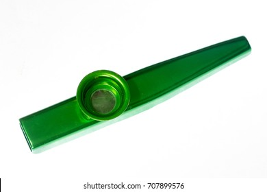 musical instrument kazoo green