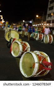 Musical instrument. Percussion. Alfaia. Made by hand in an artisan way.   Recife, Pernambuco, Brazil.