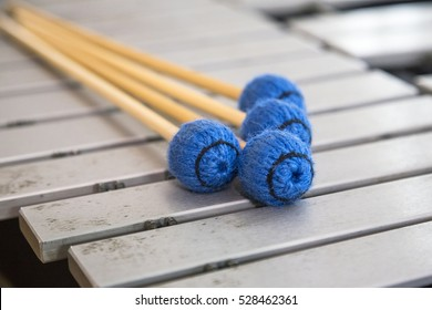 a musical instrument xylophone with mallets
