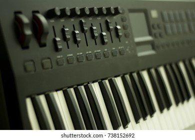musical keyboard instrument close up composition photography